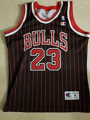 michael air jordan bulls trikot jersey gr. m champion nba basketball
