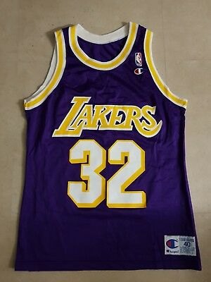 la lakers trikot magic johnson gr. 40 Champion nba jordan basketball jersey