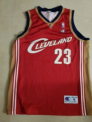 lebron james champion trikot jersey gr. m nba jordan basketball