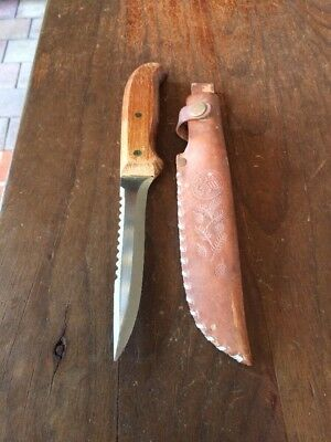 Vintage Quality Brusletto Hunting / Fishing Knife. Made In Norway. Leather Pouch