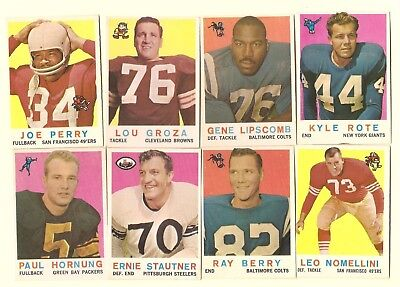 1959 Topps Football 66 different excellent condition