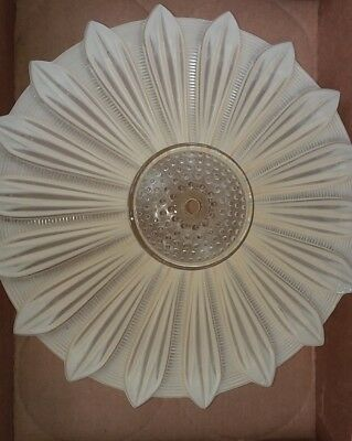 Vintage Heavy Frosted Glass Sunflower Light Shade