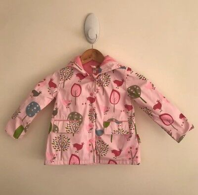 Penny Scallan raincoat Pink Chirpy Bird size 2