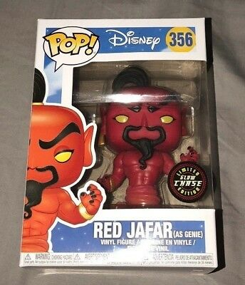 Funko POP!  Disney Aladdin: Red Jafar as Genie  CHASE gitd #356 glow in the dark