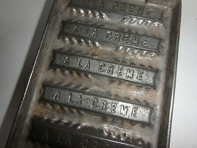 XRARE antique chocolate mold CREME BAR antike Schokoladenform 8 x CREMERIEGEL