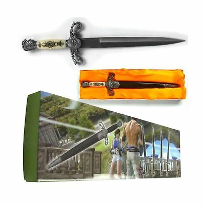 Whetstone Cutlery Medieval Double Edged Stainless Steel Dagger, Black/Silver