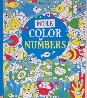 More...Color by Numbers - Usborne Book / New & Free Ship!