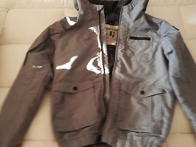 Garcia jeans boys grey waterproof jacket size 12 made in Italy  - great quality