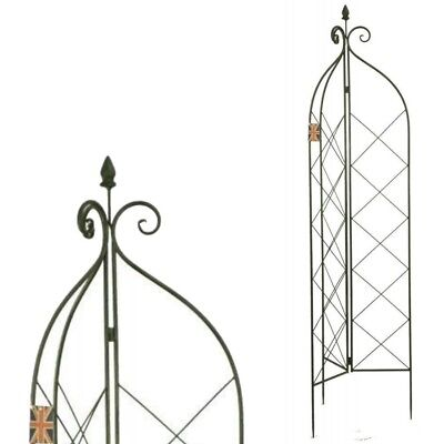 Decorative Garden Trellis Climbing Plant Rose Support Obelisk Metal 148cm  New