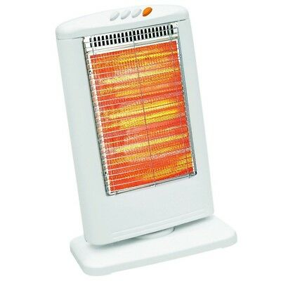 Electric Halogen Oscillating Heater Portable Home Office Garden Patio 1200W New