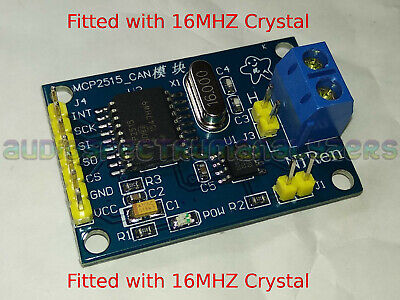 Arduino CAN BUS Module Car OBD2 OBDII MCP2515 ** 16MHZ Crystal ** - UK Stock