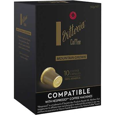 40 Capsules Vittoria Mountain Grown Coffee Capsule Pod Nespresso Compatible