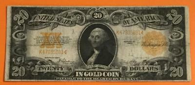 """1922 $20 US """"GOLD Certificate """"LARGE SIZE Currency X881 FINE! High in Demand!"""