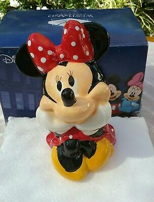 Westland Giftware Disney Ceramic Minnie Mouse Coin Bank - New/boxed