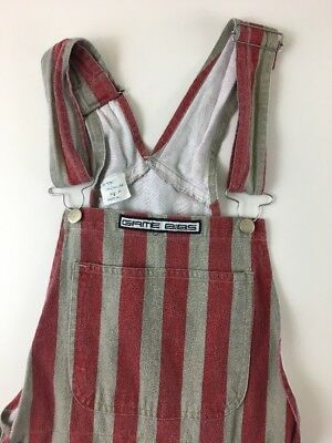 Game Day Bibs Striped Overalls Scarlet Red Gray NCAA Sports XS Fan Team Mascot