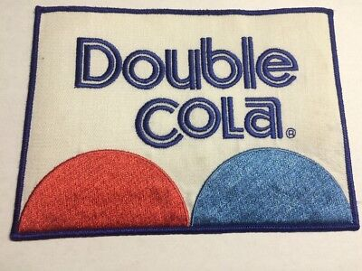 "VINTAGE DOUBLE COLA SODA UNIFORM LARGE PATCH 8"" x 5 3/4"" Size"