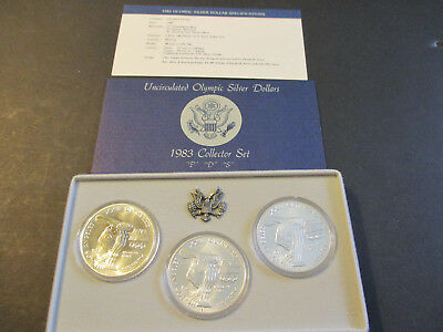 1983 Olympic Commemorative Silver Dollars