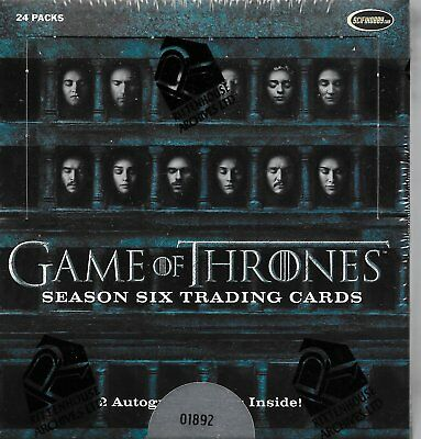 Game of Thrones Season 6 Factory Sealed Box - 2 Autographs per Box