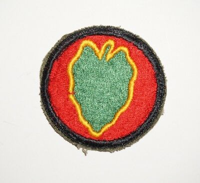 24th Infantry Division Patch WWII US Army P7253