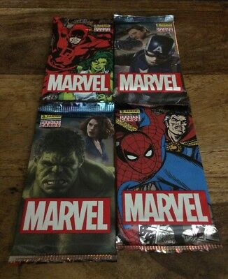 Marvel Trading Cards (Panini) Comic Super Heroes X4 New Packets