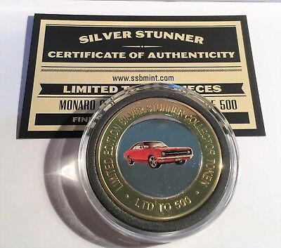 NEW HK GTS Monaro Holden Colour Silver Stunner Coin with C.O.A. LTD 500