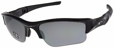 Oakley Flak Jacket XLJ Sunglasses 12-903 Jet Black | Black Iridium Polarized