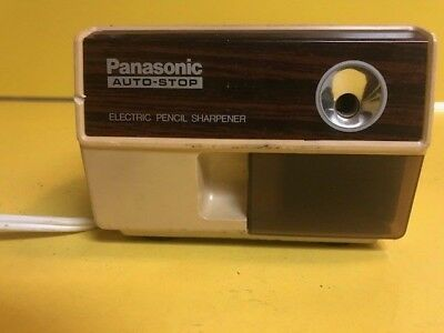 Vintage 1980's Panasonic Auto-Stop Electric Pencil Sharpener KP-110 TESTED WORKS
