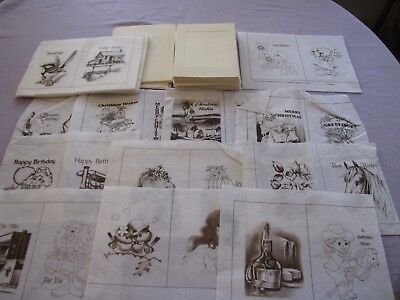 Bulk Lot Of Unused Vintage Hobbytex  Greeting Cards & 15 Paints