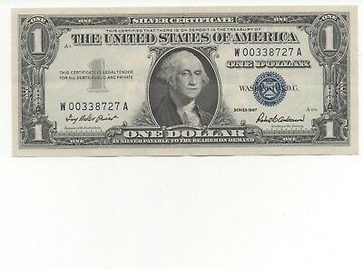 1957 One $1 Dollar Silver Certificate Notes XF- AU US Currency