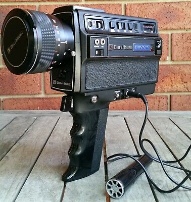 Vintage Retro Bell & Howell Filmosonic Xl 1237 Super 8 Film Movie Camera Extras