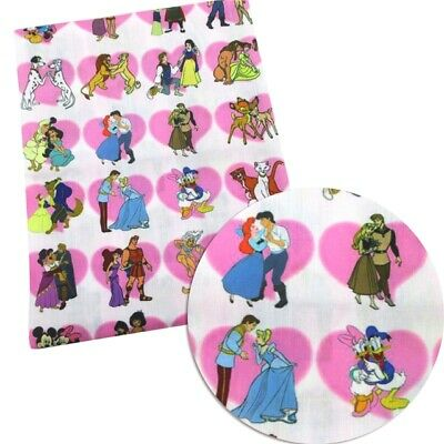 FABRIC DISNEY PRINCESS DRESS OUTLINE PRINT POLYCOTTON BLEND 50 X 145CM//20*58/""