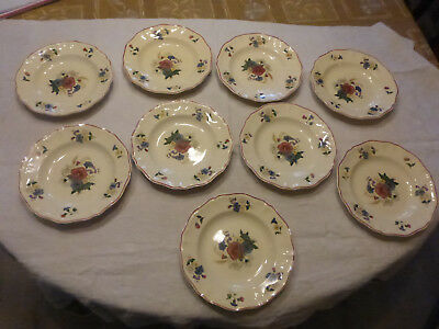 lot de 9 ANCIENNE ASSIETTE CREUSE SARREGUEMINES AGRESTE