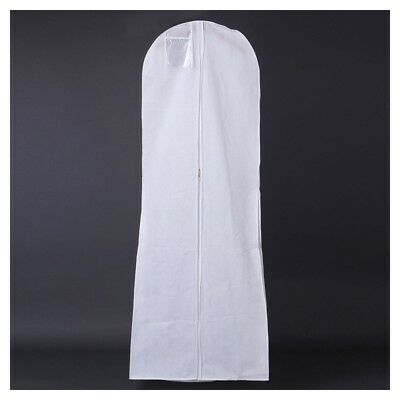 Hanging Wedding Dress Bridal Gown Garment Cover Storage Bag Carry Zip Dustp S4T3