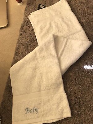 Baby Boys Embroidered Towel Bath Boy Unwanted Gift - White Company