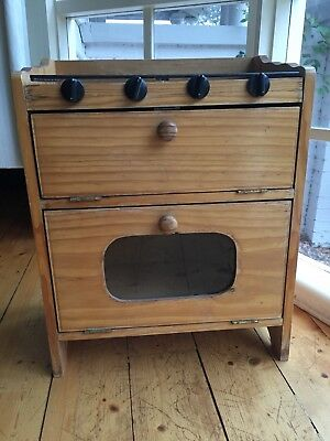 Childrens Wooden Timber Pine Play Kitchen Oven Stove