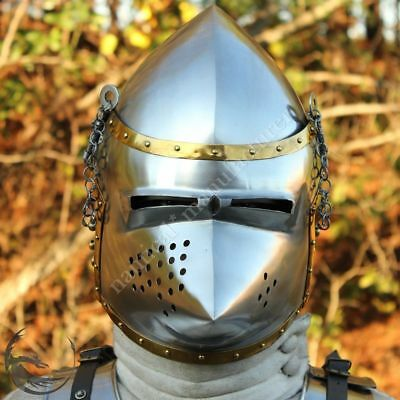Wearable Medieval Hounskull Pig Face Armour Helmet 13th Century Antique Replica