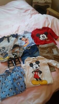 Baby Boy Clothes Mickey Mouse 0-3, 3-6 Months