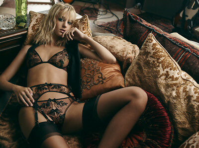 Agent Provocateur Petra Ouvert Brief and Suspender set size 2