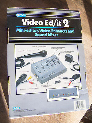 Vintage Camcorder Sound Mixer/ Editing Set-New And Unused!