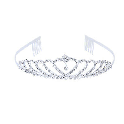 Elegant Rhinestone Headband Princess Tiara Crown with Bridal Pin