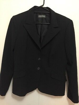 Jacqui e Black Fine Striped Jacket Blazer Suit Jacket Size 14