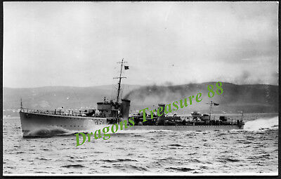H.M.S. STRONGHOLD (FA8), Postcard, Royal Navy S-Class Destroyer,1919 - 1942