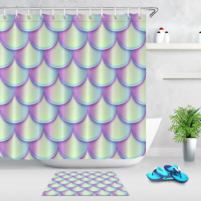 72x72 Bathroom Waterproof Shower Curtain Holographic Bright Fish Texture