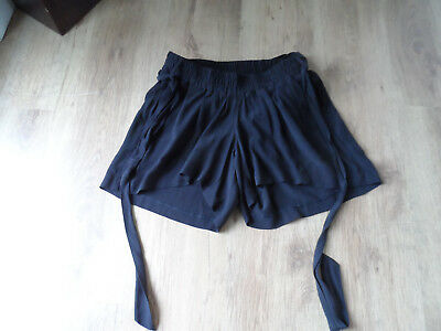M&S Size 14 Ladies Black Maternity Shorts With Belt, Over Bump Shorts BNWT