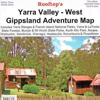 Yarra Valley West Gippsland Adventure Map - Rooftop Maps