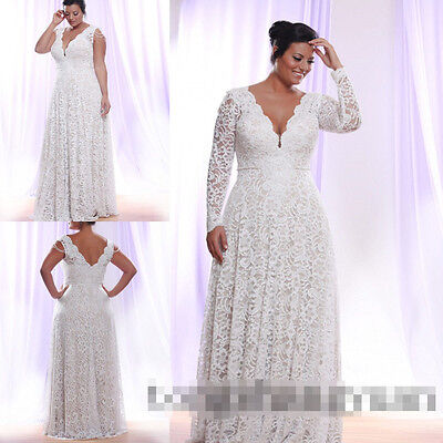 Custom Long Sleeves Sleeveless Plus Size Wedding Dresses Bridal Gowns All Size