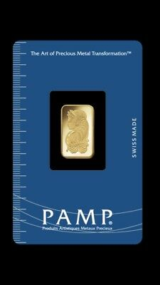 Pamp Suisse 2.5 Gram Gold Minted Bullion Bar 9999