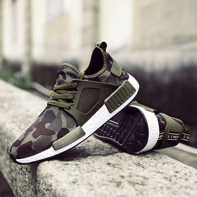 Men's Camouflage SPORTS TRAINERS Trainer Fitness Running Breathable Shoes UK 13
