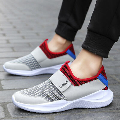 Men's Casual Light Breathable Velcros Sneakers Sports Trainers Gym Walking Shoes