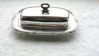 Beautiful Silver Plated  Butter Preserve Dish